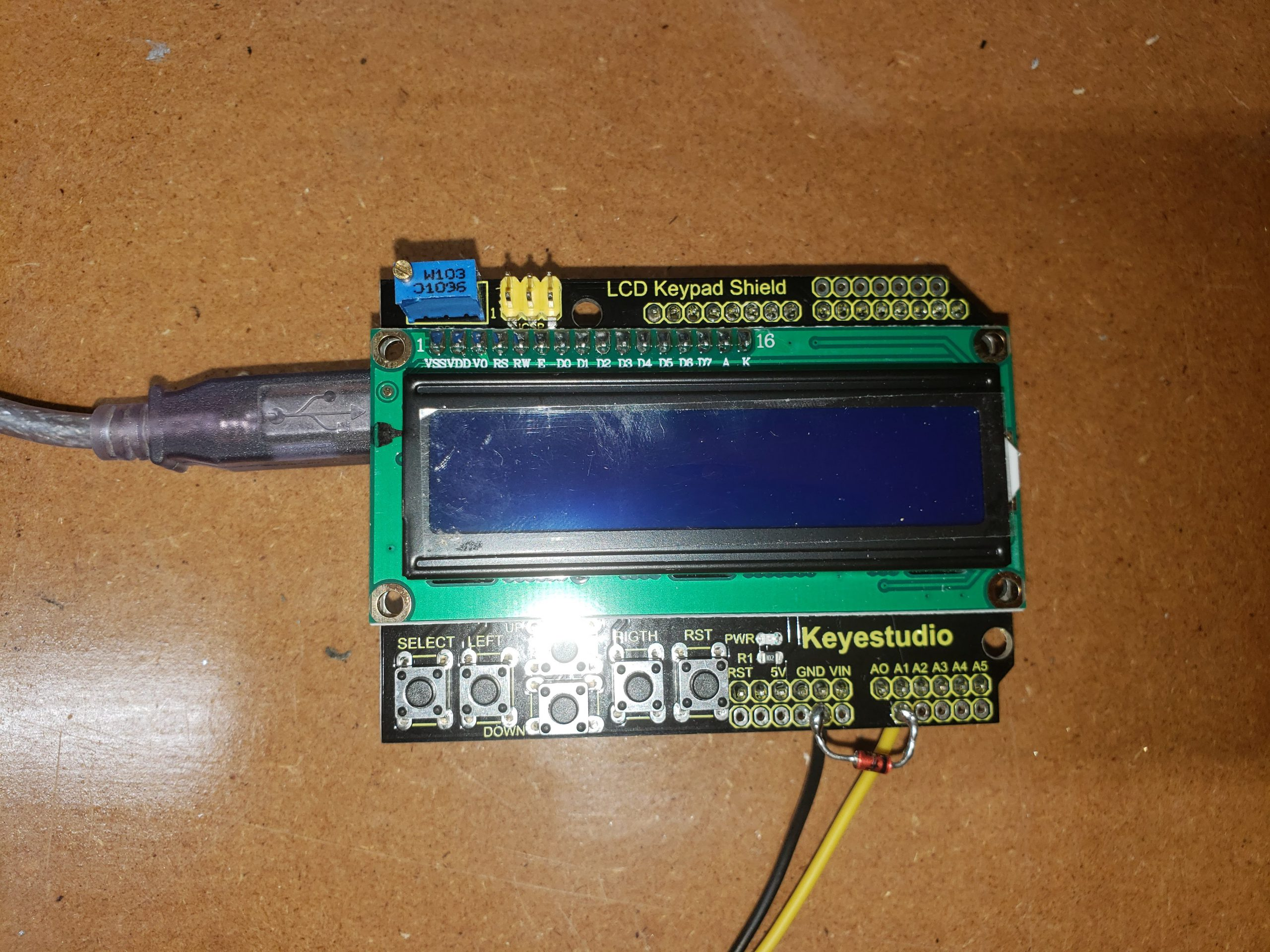Display shield with protection diode and input wires